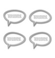 metal plate speech bubble icon for text quote vector image