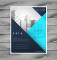 modern minimal brochure flyer template in blue vector image vector image