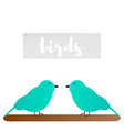 of sparrows vector image