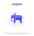 our services elephant animal solid glyph icon web vector image vector image