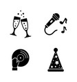 party simple related icons vector image