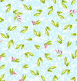 Pattern with little leaves vector image vector image