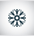people gear icon for web and ui on white vector image