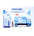 pharmacy supply service flat landing page vector image vector image