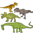 prehistoric dinosaurs cartoon set vector image vector image