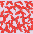 red butterfly surface pattern nature vector image