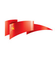 red flag ussr vector image