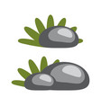 rocks and grass collection vector image