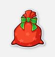santa claus red bag full gifts vector image