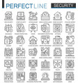 security outline mini concept symbols data pc vector image vector image