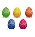 set easter eggs star pattern on easter eggs vector image vector image
