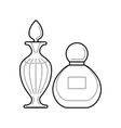 set of perfume bottles icon vector image vector image