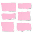 set of rosy paper different shapes tears vector image vector image