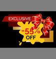 shopping card exclusive discount holiday vector image