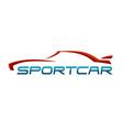 Sportcar logo vector image vector image