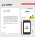 taxi business letterhead calendar 2019 and mobile vector image vector image