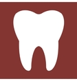 Tooth red Icon vector image