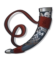 Traditional hunting horn in ethnic style vector image vector image