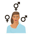 transgender concept man to woman vector image