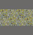 tropical garden foliage seamless pattern vector image vector image