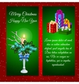 Two vertical cards with Christmas decoration vector image vector image
