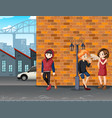 urban trouble teenager in town vector image vector image