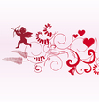 Valentine banner with space for text vector image vector image