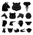 wild animal black icons in set collection for vector image vector image