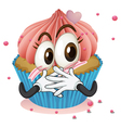 a cup cake vector image