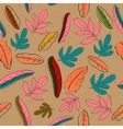 Seamless texture with pastel colors leaves vector image