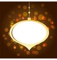 Elegant golden Christmas background with lights vector image
