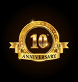 10 years anniversary celebration logotype vector image