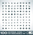 100 Universal Icons For Web and Mobile volume 4 vector image
