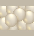 abstract background with dynamic 3d spheres vector image vector image