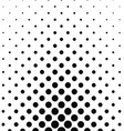 Abstract monochrome dot pattern vector image vector image