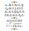 alphabet abc flowering alphabetical font vector image vector image