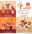 american indians 2x2 design concept vector image vector image