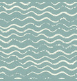 beautiful seamless pattern with wavy brush strokes vector image