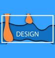 blue orange drops depth volumetric fluid fluid vector image