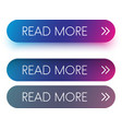 blue spectrum read more web buttons isolated on vector image vector image