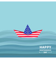 Boat in the ocean Independence day 4 of July vector image vector image