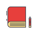 book study learn library e-book bookstore vector image