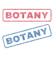 Botany textile stamps vector image