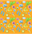 bright seamless pattern with seashells vector image vector image