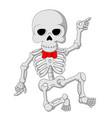 cartoon funny skeleton dancing vector image vector image
