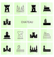 chateau icons vector image vector image