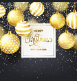 christmas background with tree balls and snow vector image