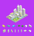 city streets isometric view vector image vector image