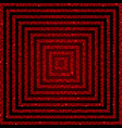 concentric square red mosaic sequin glitter vector image