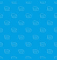 cookie box pattern seamless blue vector image vector image